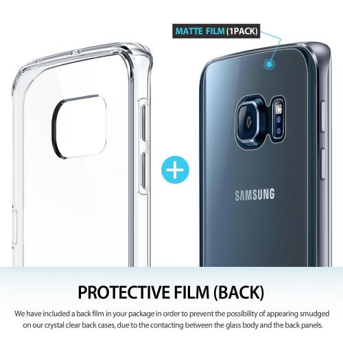[Samsung Galaxy S6 Edge] Case, Ringke [Clear] SLIM Series Slim & Protective Crystal Glossy Snap-on Hard Polycarbonate Plastic Case Cover w/ Free Screen Protector