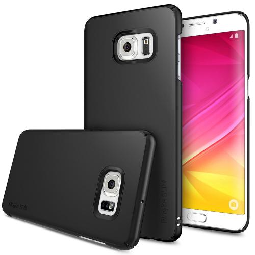 Samsung Galaxy S6 Edge Plus, Ringke [Black] SLIM Series Full Top/ Bottom Coverage Dual Coated Hard Case