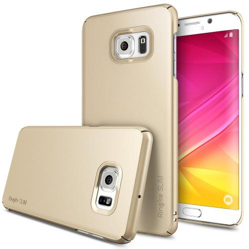 Samsung Galaxy S6 Edge +, Ringke [Royal Gold] SLIM Series Full Top/ Bottom Coverage Dual Coated Hard Case