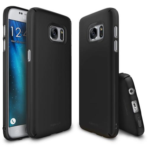 Samsung Galaxy S7 Case, Ringke [SLIM][SF Black] Snug-Fit Ultra-Thin All Coverage Hard Case