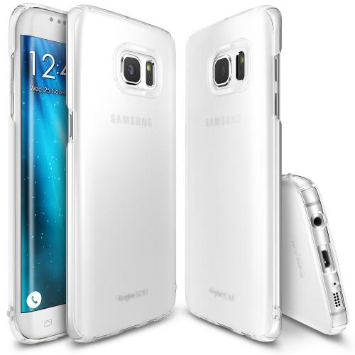 Samsung Galaxy S7 Edge, Ringke [SLIM][Frost White] Snug-Fit Ultra-Thin All Coverage Hard Case