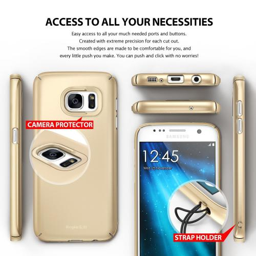 Samsung Galaxy S7 Case, Ringke [SLIM][Frost White] Snug-Fit Ultra-Thin All Coverage Hard Case