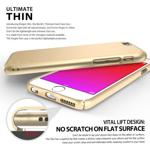 Apple iPhone 6S PLUS (5.5 inch) Hard Case, Ringke [Rose Gold] SLIM Series Perfect Fit & Slim Scratch-Resistant Protective Hard Case w/ Free Screen Protector