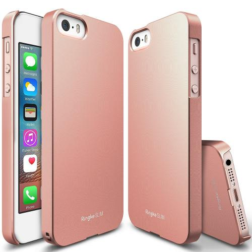 Apple iPhone SE / 5 / 5S Case, Ringke [Rose Gold Crystal] SLIM Series Perfect Fit Scratch-Resistant Protective Hard Case