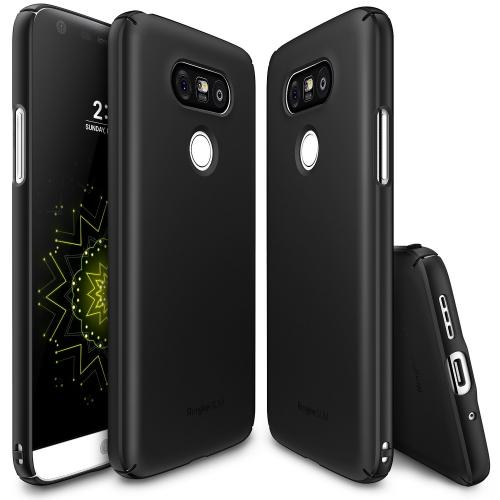 LG G5  Case, Ringke [SF Black] SLIM Series Perfect Fit Scratch-Resistant Protective Hard Case