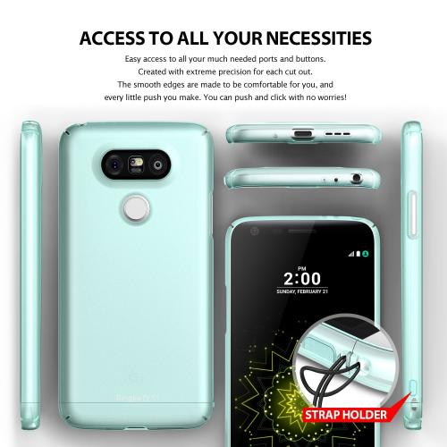LG G5  Case, Ringke [Frost White] SLIM Series Perfect Fit Scratch-Resistant Protective Hard Case