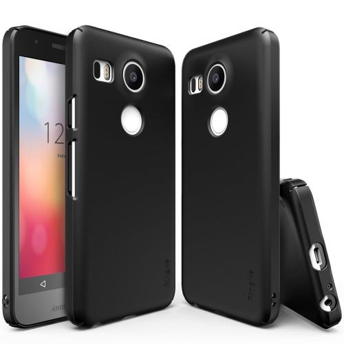 LG Google Nexus 5X Case,Ringke [SF Black] SLIM Series Perfect Fit & Slim Scratch-Resistant Protective Hard Case