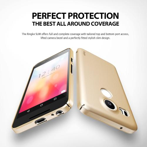 LG Google Nexus 5X Case, Ringke [Royal Gold] SLIM Series Perfect Fit & Ultra Slim Scratch-Resistant Protective Hard Case