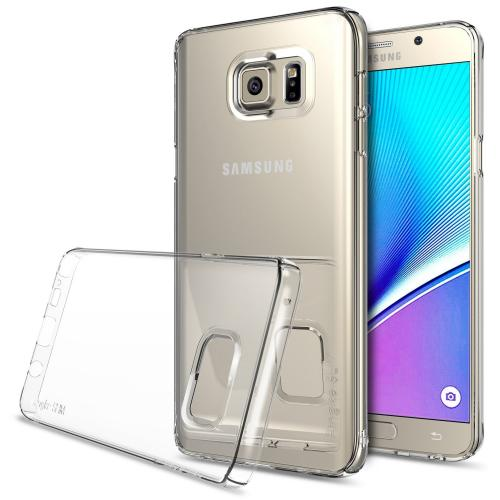 Samsung Galaxy Note 5, Ringke [Clear] SLIM Series Full Top/ Bottom Coverage Dual Coated Hard Case