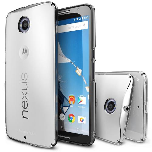 Nexus 6 [ringke] Hard Case Cover [clear] Slim Protective Premium Dual Coated Case W/ Free Screen Protector Included [perfect Fitting]