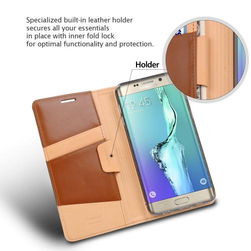 Samsung Galaxy S6 Edge Plus, Ringke [Brown] SIGNATURE Full Top/Bottom Coverage Dual Coated Hard Case