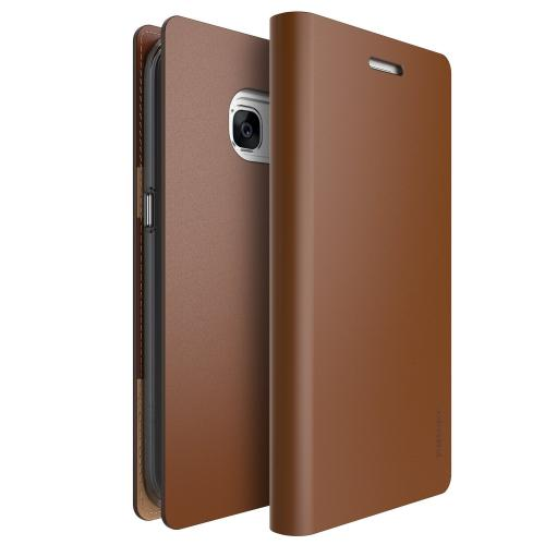 Samsung Galaxy S7 Case, Ringke [SIGNATURE][Brown] Premium Genuine Leather Flip Wallet Case