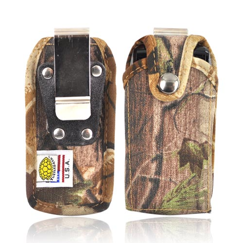 Original TurtleBack Premium Universal Heavy Duty Nylon Case w/ Steel Belt Clip - Camouflage BM