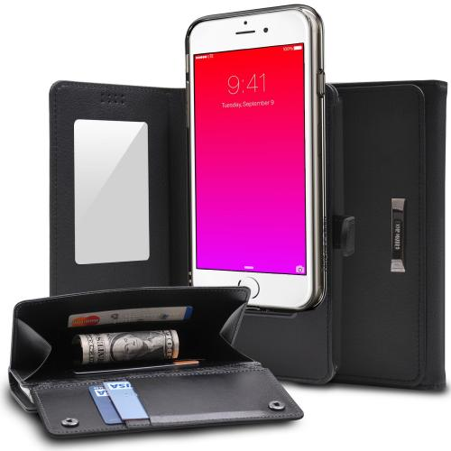 iPhone 6S Case - Premium Ringke Wallet [Black] Multi-Functional, Versatile Perfect Protection Folio Wallet Case For Apple iPhone 6S/ 6