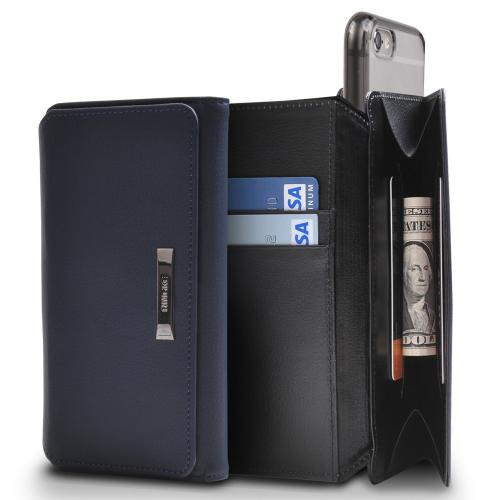 Apple iPhone 6/ 6S Case, Ringke [White & Navy] Multi-Functional Versatile Perfect Protection Folio Wallet Case
