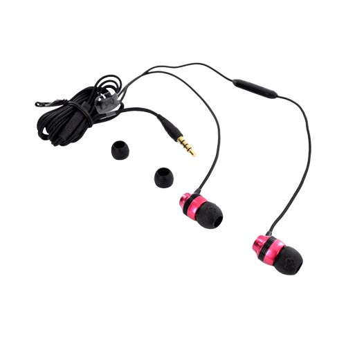 Original Skullcandy INK'D Universal Headset w/ Mic, S2INDW-134 - Hot Pink/ Black (3.5MM)