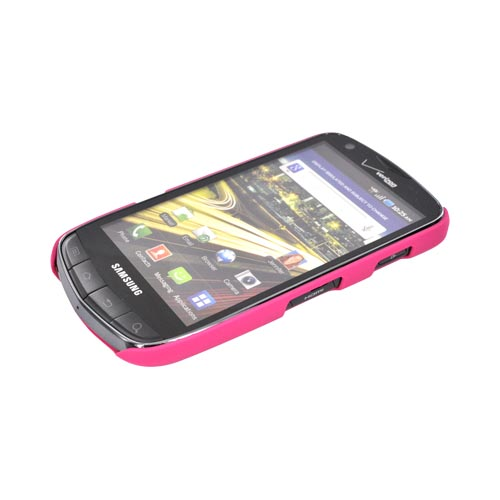 Original Incipio Feather Samsung Droid Charge Ultra Thin Rubberized Hard Case w/ Screen Protector, SA-152 - Hot Pink