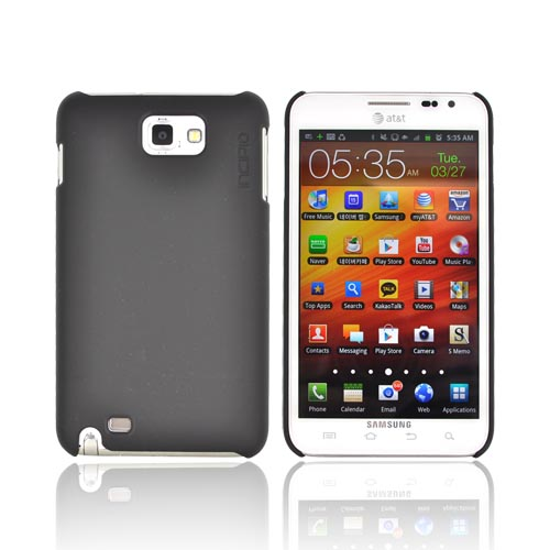 Original Incipio Feather Samsung Galaxy Note Ultra-Thin Rubberized Hard Case, SA-248 - Black