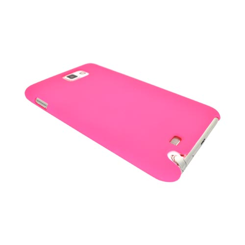 Original Incipio Feather Samsung Galaxy Note-Ultra Thin Rubberized Hard Case, SA-249 - Hot Pink