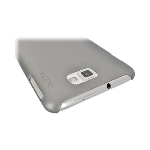 Original Incipio Feather Samsung Galaxy Note Ultra-Thin Rubberized Hard Case, SA-250 - Gray