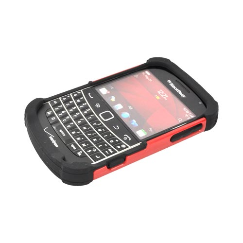 Original Ballistic Blackberry Bold 9900, 9930 SG Hard Case on Silicone, SA0607-M355 - Red/ Black