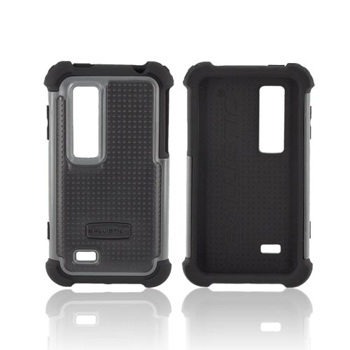 Original Ballistic LG Thrill 4G SG Hard Case on Silicone, SA0692-M315 - Gray/ Black