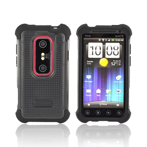 Original Ballistic HTC EVO 3D SG Hard Case on Silicone, SA0699-M005 - Black