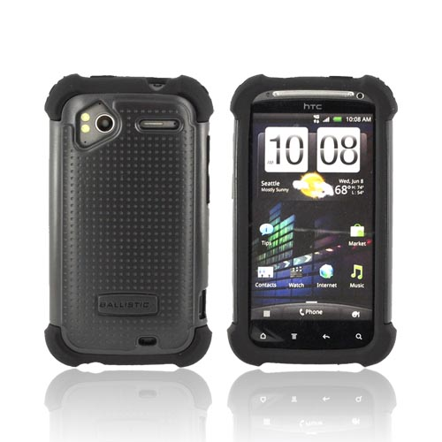 Original Ballistic HTC Sensation 4G SG Hard Case on Silicone, SA0703-M005 - Black