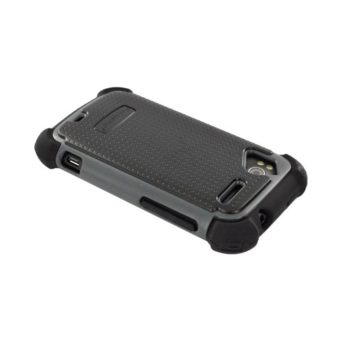 Original Ballistic HTC Sensation 4G SG Hard Case on Silicone, SA0703-M315 - Gray/ Black