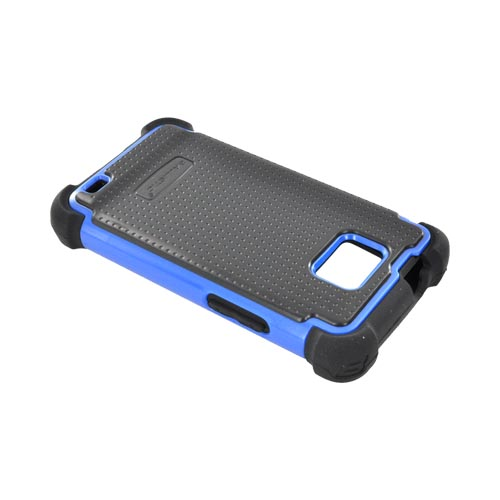 Original Ballistic AT&T Samsung Galaxy S2 SG Hard Case on Silicone, SA0735-M375 - Blue/ Black