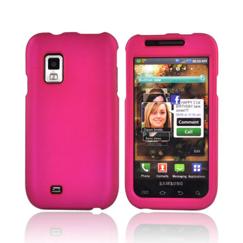 Samsung Fascinate Bundle Package - Rubberized Rose Pink Hard Case, Pink Suction Plunger Stand & Mirror Screen Protector - (Geeky in pink Combo)