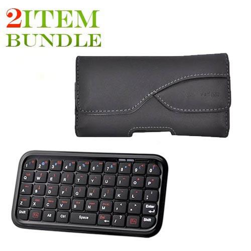 Samsung Fascinate Bundle Package - Bluetooth Keyboard & Carrying Case & Verizon Leather Horizontal Pouch - (Workaholic Combo)