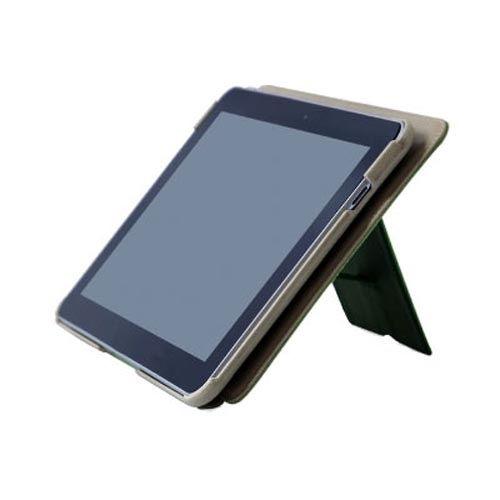 Original Zenus Samsung Galaxy Tab 10.1 Masstige Basic Band Series Leather Stand Case, SAG10-MLLBD-BE - Beige w/ Lime Green Interior