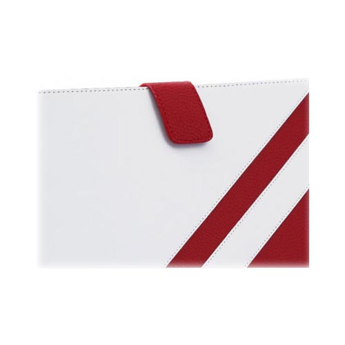 Original Zenus Samsung Galaxy Tab 10.1 Masstige Summer Marine Leather Case Pouch, SAG10-MM5PO-FR - Fierce Red/ White