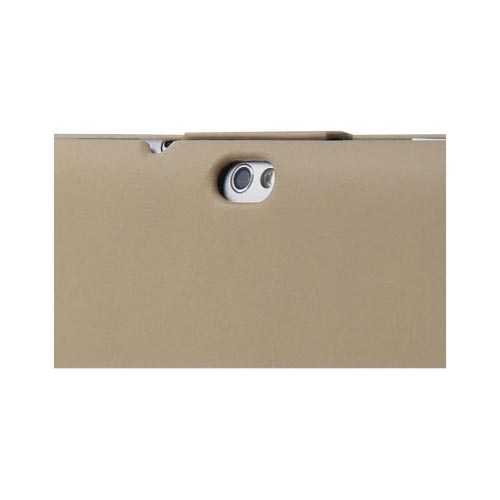 Original Zenus Samsung Galaxy Tab 10.1 Prestige Mesh Patch Stand Series Leather Case, SAG10-PLMST-BE - Light Beige w/ Light Beige Interior