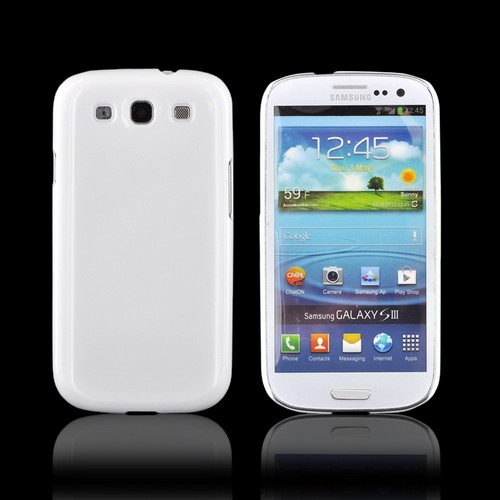 Samsung Galaxy S3 DIY Essential Bundle w/ Glossy White Ultra Slim Hard Case, Silver Bling Bow, & E-6000 Glue