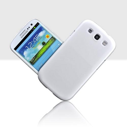 Samsung Galaxy S3 Essential Bundle w/ Ultra-Premium Glossy Snow White Hard Back Cover & Universal Dual USB Car Charger w/ Micro USB Data Cable