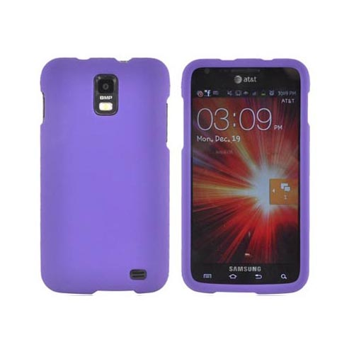 Samsung Galaxy S2 Skyrocket Essential Bundle Package w/ Rose Pink & Purple Rubberized Hard Case, Screen Protector, Car & Travel Charger