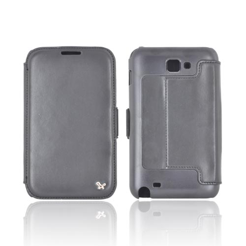 Original Zenus Galaxy Note Masstige Block Folio Series Leather Case, SAGXN-MLSFL-BK - Black