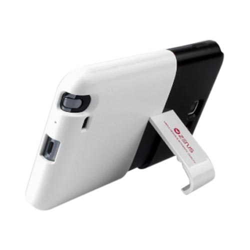 Original Zenus Samsung Galaxy Note Capsule Slide Series Hard Case w/ Kickstand, SAGXN-TS1SJ-BKWH - Black/ White