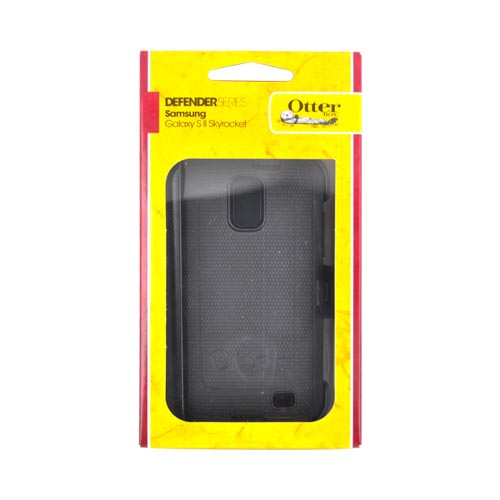 Original Otterbox Samsung Galaxy S2 Skyrocket Defender Series Silicone Over Hard Case w/ Holster & Built-In Screen Protector, SAM2-I727X-20-E4OTR - Black