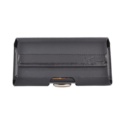 Original Verizon Samsung Fascinate i500 Horizontal Leather Pouch w/ Belt Clip and Magnetic Closure, SAMI500PCH - Black