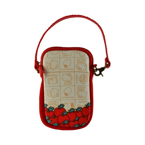 Hello Kitty Vintage Apples Universal Camera & Phone Neoprene Pouch w/ Wrist Strap