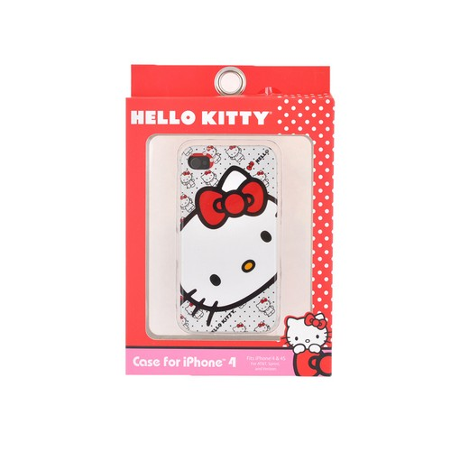 Original Hello Kitty Apple iPhone 4/4S Hard Back Cover Case, SANCC0074 - Classic Hello Kitty