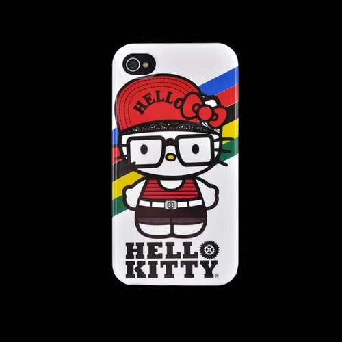 Original Hello Kitty Apple iPhone 4/4S Hard Back Cover Case, SANCC0075 - 90's Hello Kitty on Gray