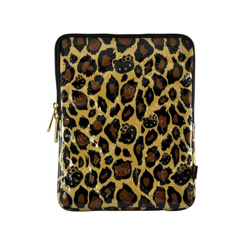 Hello Kitty Leopard Print Apple iPad (All Gen.) Patent Leather Pouch Case