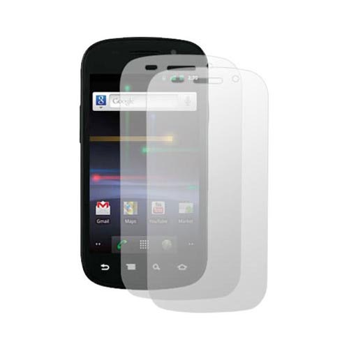 Google Nexus S 4G Essential Bundle Package w/ Black Rubberized Hard Case, Screen Protector - 2 Pack, Leather Pouch, Car & Travel Charger