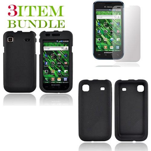 Samsung Vibrant Bundle Package - Black Hard Case, Silicone Case & Screen Protector - (Essential Combo)