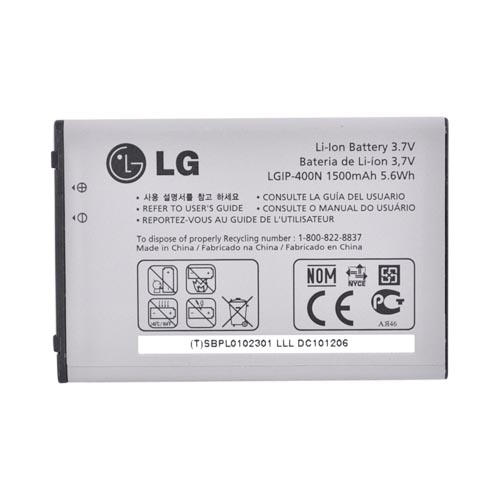 Original LG Optimus S/T/M Standard Battery (1500mAh), SBPL0102301