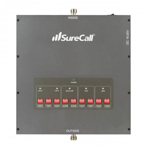 SureCall [Force5] Voice, Text & 4G LTE Cell Phone Signal Booster Omni/ 2 Dome Kit [Large Buildings 25,000+ sq. ft]